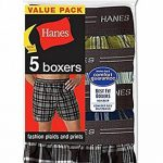 5-Pack Hanes Mens Red Label Exposed Waistband Fashion Plaid Boxer MWCBX5 L Ass de la marque Générique image 1 produit