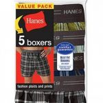 5-Pack Hanes Mens Red Label Exposed Waistband Fashion Plaid Boxer MWCBX5 L Ass de la marque Générique image 2 produit