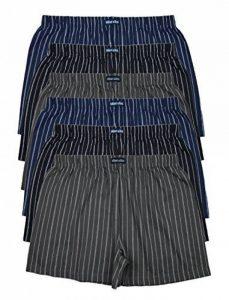 6 imprimé& doux 100% coton Boxer Boxer en 6 OU 3 à la mode couleurs en 6ER SET disponible en S M L XL 2XL 3XL 4XL & 5XL 6XL de la marque MioRalini image 0 produit