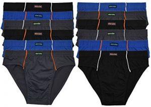 ► 6 ou 12 Sport Hommes - Slips en Combinaisons de couleurs Sans Intervention 100% Coton Lot de 12 Enregistrer Le Pack Slip Slip Pour Homme Garçons homme - M L XL 2XL 3XL 4XL de la marque Inconnu image 0 produit