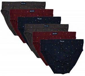 ❯ 6 slips avec & SANS Intervention 100% coton dand classique combinaisons de couleurs sans Intervention Pack économique SLIP dhomme slip homme slip 6ER SET disponible en S M L XL 2XL 3XL 4XL de la marque MioRalini image 0 produit