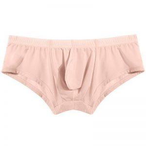 Avidlove Slip Boxer Homme Sexy Soie Glace Pantalon court Confort Sous-vetements sexy Hommes, Abricot, 42 de la marque Avidlove image 0 produit