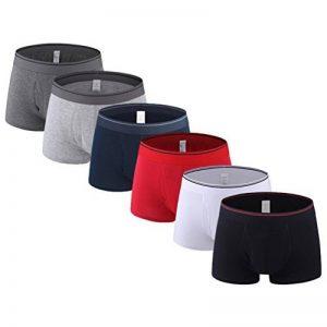 Binhee Troncs De Coton Pour Hommes Sous Vêtements Pantalon Plat Couleur Unie(Lot de 6) de la marque Binhee image 0 produit
