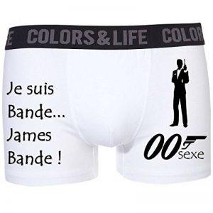 Boxer caleçon homme humour 00sexe James bande de la marque magique cadeau image 0 produit