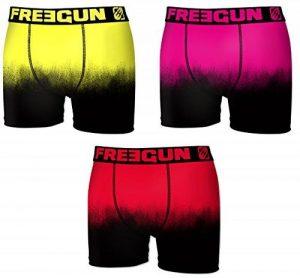 Boxer Freegun homme en microfibre soft touch Bi Ton Dégradé de la marque Freegun. image 0 produit