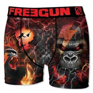 """Boxer Freegun homme Fgp43 """"Rock-Heavy metal""""en microfibre -Assortiments modèles photos selon arrivage- de la marque Freegun. image 0 produit"""