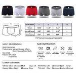 Boxer Homme,Amilia Homme Underwear Lot de 4 Respirant Cotton Calecon Homme de la marque Amilia image 4 produit