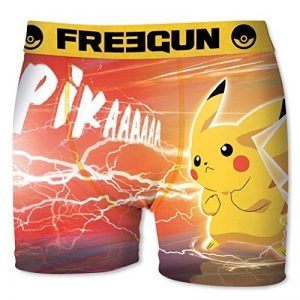 Boxer microfibre - POKEMON - Collection officielle Freegun - Taille adulte homme de la marque Pokemon image 0 produit