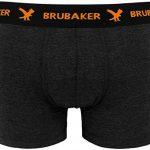 BRUBAKER Boxer rétro - Lot de 6 - Homme - Noir / Gris foncé avec Logos contrastés de la marque Brubaker image 3 produit