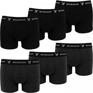 BRUBAKER Boxer rétro - Lot de 6 - Homme - Noir / Gris foncé de la marque Brubaker image 0 produit
