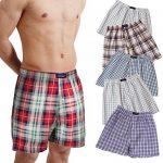 BRUBAKER lot de 6 Boxer-short hommes boxer shorts tissu caleçons en coton - peu froissable - rouge et tons de bleu M de la marque BRUBAKER image 1 produit