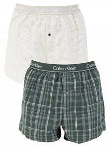 Calvin Klein Homme Lot de 2 boxers tissés Slim Fit, Multicolore de la marque Calvin Klein image 0 produit