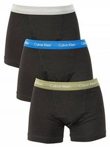 Calvin Klein Homme Lot de 3 malles en coton extensible, Noir de la marque Calvin Klein image 0 produit