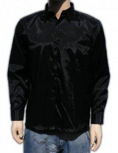 Chemise en soie thaïlandaise hommes à Manche Longue / Noir Taille XXL de la marque Thailandshop image 0 produit