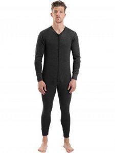 Combinaison Onesie Sous-Vêtement Thermique Isolant Tout-En-Un Manches Longues avec Zip Central pour Hommes, Différentes Couleurs et Tailles de la marque 2Cozee image 0 produit