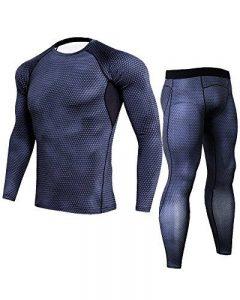 Compression Homme Set À Manches Longues T-Shirt Pantalons Set Bodysuit Pour Les Hommes de la marque ShiFan image 0 produit