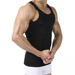 Débardeur gainant - IMAGE T-Shirt amincissant - Sous-Vêtements masculins pour Hommes - Gilet pour perdre du Poids Ventre & Reins avec Couture fort de haute Qualité de la marque Image image 0 produit