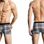 deyou Caleçons longs en coton Boxer pour hommes, mi-taille treillis impression Sports Pants Pack 4 de la marque deyou image 2 produit