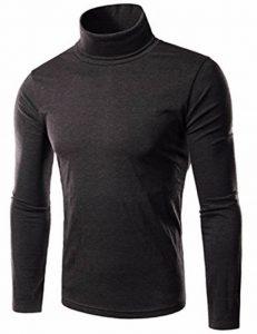EMMA Chemise Thermique à Col Roulé à Manches Longues Hommes T-shirt Slim Straight Pull d'hiver de la marque EMMA image 0 produit