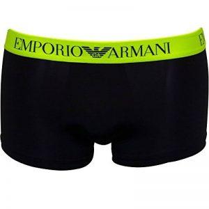 Emporio Armani Tendance Sous Tronc De Boxer De Natation Masculine, Bleu Marine / Jaune Fluo de la marque Emporio Armani image 0 produit