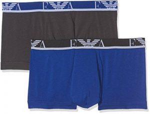 Emporio Armani Underwear 1112107a715, Boxer Homme, Multicolore (Fumo/Blu Elettrico 18444), Large de la marque Emporio Armani Underwear image 0 produit