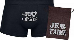 Ensemble cadeau - Mon cœur appartient à ma chérie - Les boxers pour hommes de la marque Herr Plavkin image 0 produit