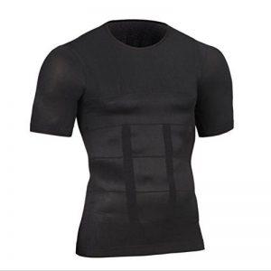Erica Shirt Amincissant Hommes Minceur Body Shaper T-Shirt De Compression, Maillot De Corps Slim Fit Chemises De Forme de la marque Ning image 0 produit