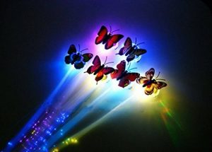 Flash LED Ensemble de cheveux Extensions Ofhair Clip Papillon Femme Fille Braid Pince à cheveux Décor Multicolors LED Clignotant Papillon Fibre optique LED Lumineux Barrette à cheveux/Braid Hairdo pour Party Dance 4PCS de la marque Fairfield heart rhyme image 0 produit