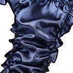 Freebily Sous-vêtement Homme Erotique String Thong Poche Plissé Dentelle Satin Slip Lingerie Bikini T-back Triangle Lace Culotte Taille basse M L XL 2XL de la marque Freebily image 4 produit