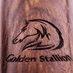 Golden Stallion–Corde à sauter avec roulements à bille et poids–Cuir Corde à sauter pour sports de la marque Golden Stallion image 4 produit