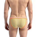 GZXCPC Hommes String Lycra coton rayure u convexe hautes hanches confortable respirant triangulaire sous-vêtements haute élasticité de la marque Sous-vêtements pour hommes image 2 produit