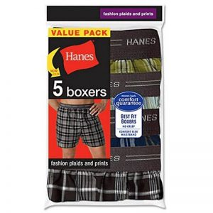 Hanes Men's 5-Pack Woven Exposed Waistband Boxers, Fashion Plaid, Medium de la marque Hanes image 0 produit