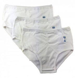 HDUK Mens Underwear Lot de 3 paires de slips traditionnels pour homme, 100% coton, style Y, blanc/bleu mixte/ blanc Airtex/S, M, L, XL, XXL, 3XL, 4XL, 5XL de la marque HDUK TM Mens Underwear image 0 produit