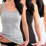 HERMKO 1325 Lot de 3 Longshirts 100% coton débardeurs pour Femme pour sens dessus dessous de la marque HERMKO image 2 produit