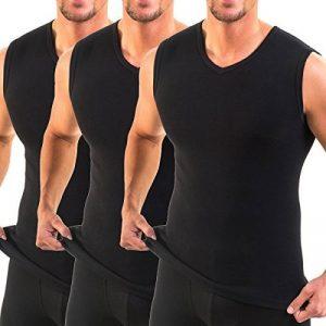 HERMO 3050 Lot de 3 Business Shirt Homme avec col V, Maillot de corps en 100% coton d'Europe (Tank Top) de la marque HERMKO image 0 produit
