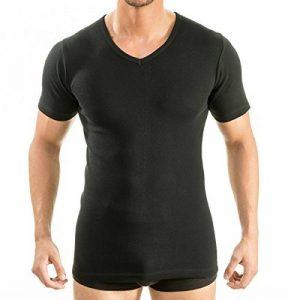HERMO 4880 Lot de 3 Business Shirt Homme à manche courte avec col V, Maillot de corps demi-manche en 100% coton d'Europe de la marque HERMKO image 0 produit