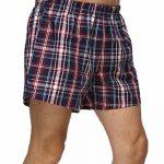 Homme 100% Coton Boxers Caleçon Lâche Short Confortable Sous-vêtements à Carreau avec Bouton Taille élastique Grande Taille ,2Pcs de la marque John&Elaine image 1 produit