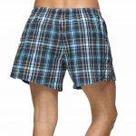 Homme 100% Coton Boxers Caleçon Lâche Short Confortable Sous-vêtements à Carreau avec Bouton Taille élastique Grande Taille ,2Pcs de la marque John&Elaine image 2 produit