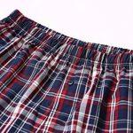 Homme 100% Coton Boxers Caleçon Lâche Short Confortable Sous-vêtements à Carreau avec Bouton Taille élastique Grande Taille ,2Pcs de la marque John&Elaine image 4 produit