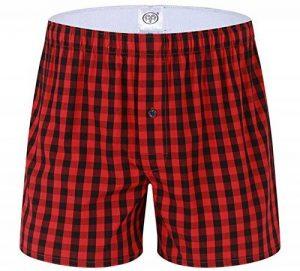 Homme 100% Coton Boxers Caleçon Lâche Short Américains Sous-Vêtement à Carreaux en Couleurs Divers de la marque WSLCN image 0 produit