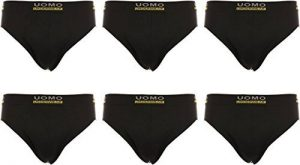 Homme Boxer Pack de 12 / 6 Microfibre Coton Uomo Collection Soft Touch Elastan Noir Néon Palmier Étoiles Lion Lion Aigle de la marque Uomo image 0 produit