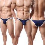 Homme String Slip Triangle Sous-vêtement Sexy Modal Bikini Briefs Basic Lot de 6 de la marque YFD image 3 produit