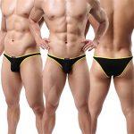 Homme String Slip Triangle Sous-vêtement Sexy Modal Bikini Briefs Basic Lot de 6 de la marque YFD image 1 produit