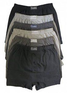 Hommes Lot de 6paires de boxer shorts Sous-vêtements, Classic en coton riche Uni pour Homme par sockstack® de la marque Sockstack image 0 produit