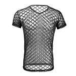 iEFiEL T-shirt Transparent Homme Lingerie Sexy Débardeur Chemise Manche Courte Noir Clubwear sous-vêtement M-XL de la marque iEFiEL image 1 produit