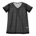 iEFiEL T-shirt Transparent Homme Lingerie Sexy Débardeur Chemise Manche Courte Noir Clubwear sous-vêtement M-XL de la marque iEFiEL image 2 produit