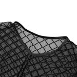 iEFiEL T-shirt Transparent Homme Lingerie Sexy Débardeur Chemise Manche Courte Noir Clubwear sous-vêtement M-XL de la marque iEFiEL image 3 produit