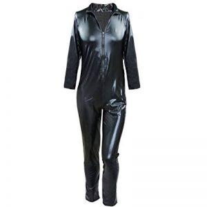 IINIIM Homme Lingerie Combinaison Cuir verni Clubwear Manches longues Sous-vêtement moulant Noir de la marque iiniim image 0 produit