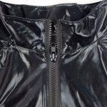 IINIIM Homme Lingerie Combinaison Cuir verni Clubwear Manches longues Sous-vêtement moulant Noir de la marque iiniim image 3 produit