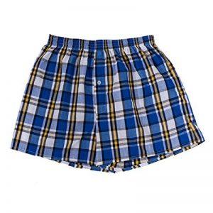 Jiayiqi Hommes Tartan Boxers Taille Élastique 100% Coton Confort Sous-Vêtements 2 Pack de la marque Jiayiqi image 0 produit